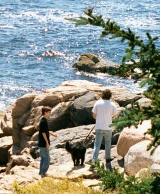 Mystic and family in Maine